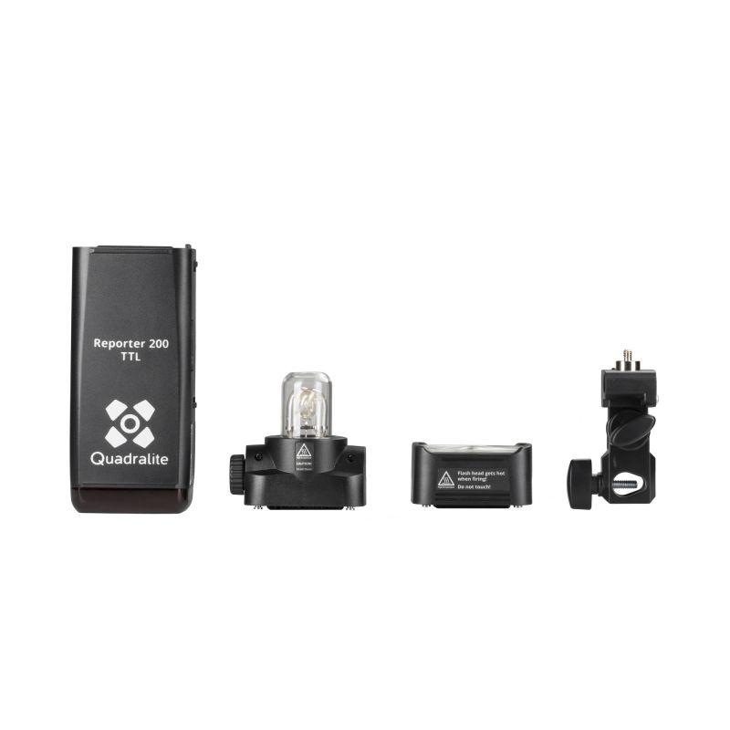Quadralite Reporter 200TTL / AD200 Wistro Kit Flash multifonctions (Cobra/Torche/LED)