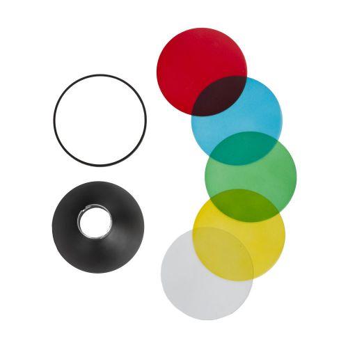 Quadralite Reporter Bol Mini Réflecteur + Gélatines de couleur