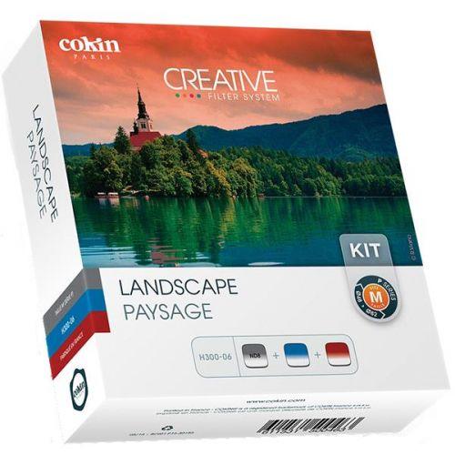 Cokin Kit de 3x filtres à densité neutre dégradé GND Paysages (121S, Blue 123S, Tobacco125S) système 84 mm