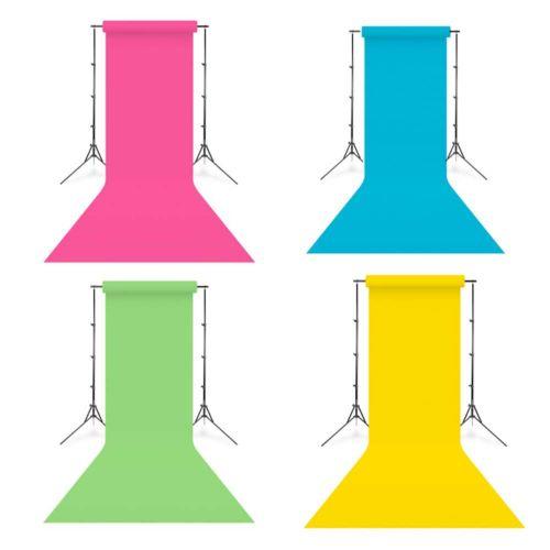 Savage Kit Full Color 4x fonds de studio papier 1,35 x 11m vert, jaune, rose et bleu
