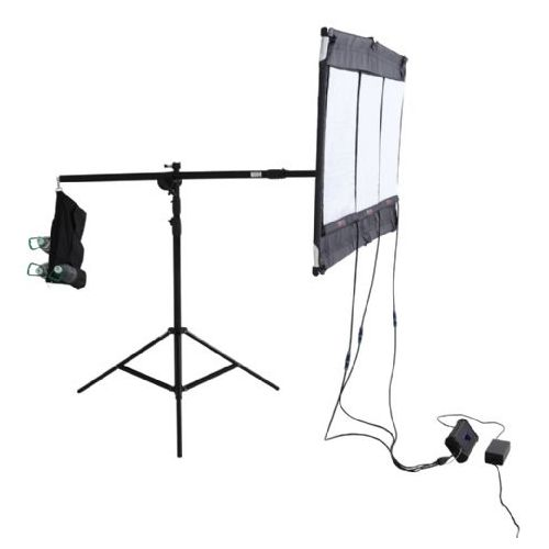 Falcon Eyes RX-318TD-KR Kit de 3x Panneaux LED bicolores flexibles 300w RX-18TD 45x60 cm + Boom arm