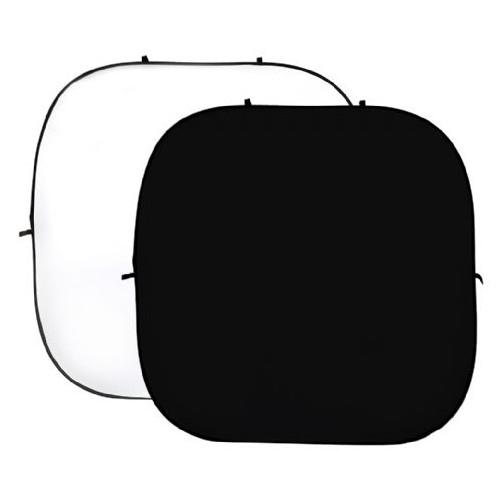 StudioKing Fond de studio pliable uni blanc/noir 240 x 240 cm