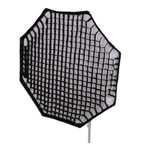 StudioKing Boîte à lumière octabox pliable + grille nid d'abeille 120 cm