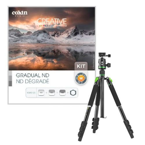 Pack Trépied + rotule Genesis ABT + kit Cokin P (pour 24 mm GA)