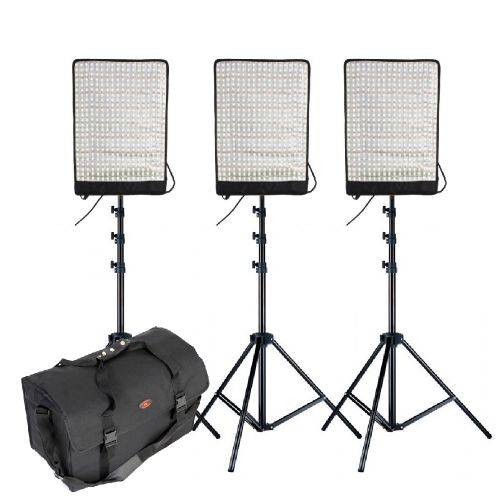 Pack de 3x panneaux LED flexibles Falcon Eyes RX-18TD