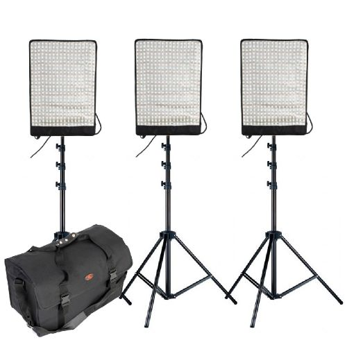 Pack 3x LED flexible Falcon Eyes RX-12T + pieds