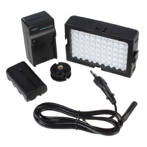 Falcon Eyes kit 7W panneau LED DV-60 alimentation batterie