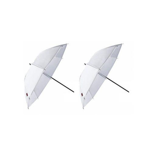 Falcon Eyes 2 x parapluies réflecteurs UR-48T translucide/blanc 122 cm