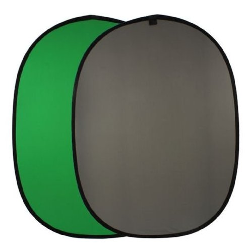 Falcon Eyes Fond de studio uni pliable BCP-10-03 chromakey vert/gris 148x200 cm
