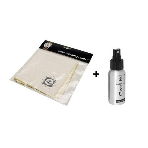 Kit de nettoyage pour filtres (spray + tissu microfibres)