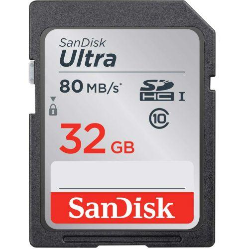 Sandisk carte mémoire SD hc 32gb ultra 80mb/s class 10