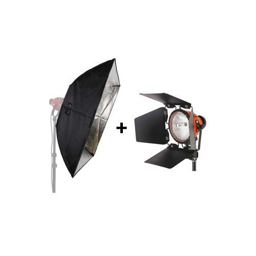 Studio King Kit Projecteur mandarine TLR800C 800W + boîte à lumière SBT100