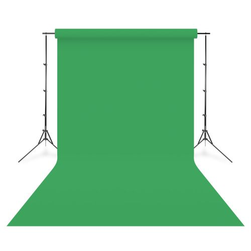 Linkstar Fond de studio vinyle uni Chroma Key vert 2,75 x 6,09 m