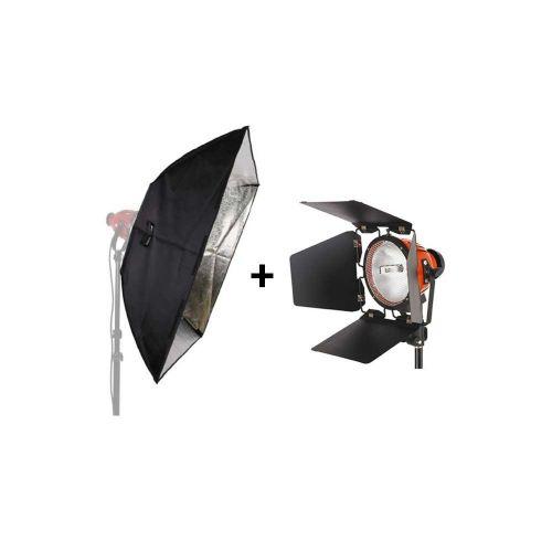 Studio King Kit Projecteur mandarine TLR800D 800W + boîte à lumière SBT100