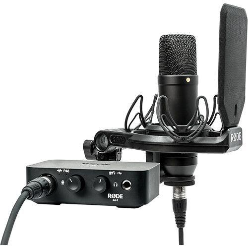 Rode Kit studio AI-1 + NT1 micro + suspension SMR + câble XLR