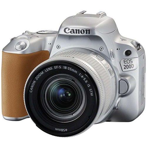 Canon EOS 200D + objectif 18-55 mm IS STM argent