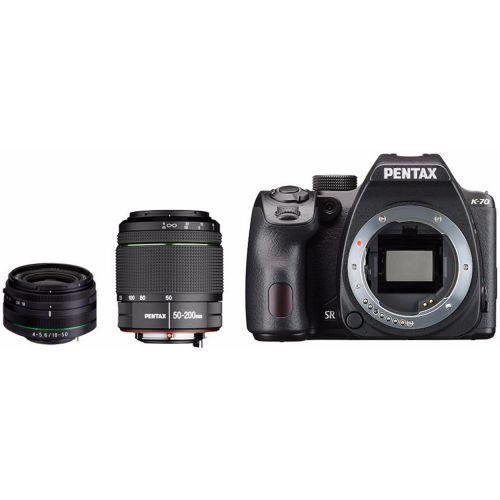 Pentax K-70 noir + objectif 18-50 mm RE + objectif 50-200 mm