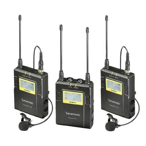 Saramonic kit Micro lavalier UwMic9 2 x TX9 emetteurs + RX9 récepteur UHF