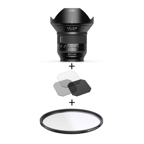 Irix Firefly objectif 15 mm f/2.4 pour Canon EF + Irix filtre UV Edge 95 mm