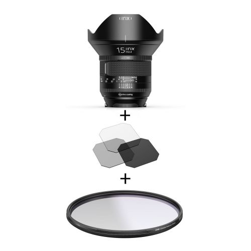 Irix Firefly objectif 15 mm f/2.4 Canon EF + filtre Edge polarisant 95 mm + filtres gélatines