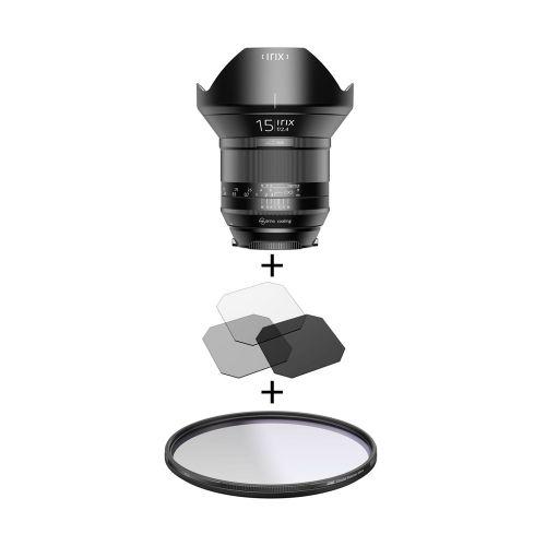 Irix Blackstone objectif 15 mm f/2.4 Nikon + filtre Edge polarisant 95 mm + filtres gélatines