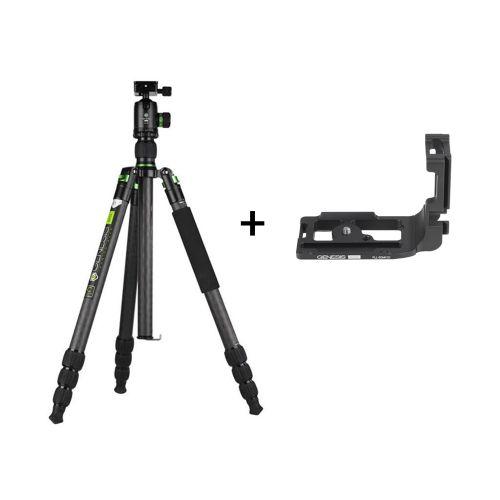 Genesis Base kit trépied C5 + rotule BH-40 (vert) + Plateau en L PLL-5DMKIII pour Canon 5D MkIII