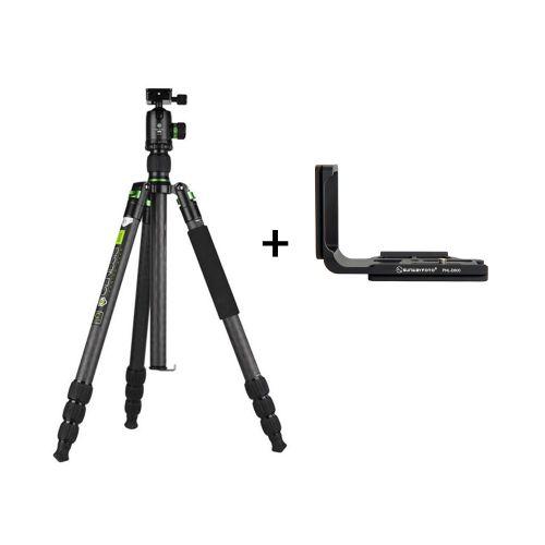 Genesis Base kit trépied C5 + rotule BH-40 (vert) + Sunwayfoto Plateau en L PNL-D600 pour Nikon D600