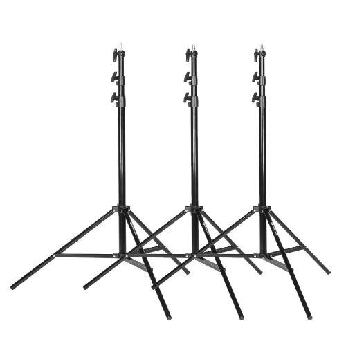Quadralite Air275 pack de 3 pieds d'éclairage de studio 125-275cm
