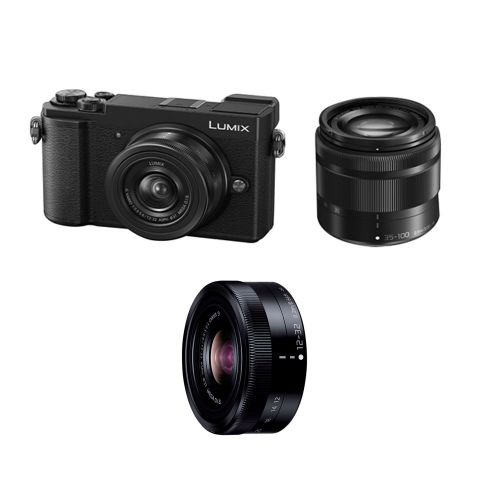 Panasonic Lumix GX 9 Appareil photo hybride + objectifs 12-32mm f3.5-5.6 + 35-100mm Noir