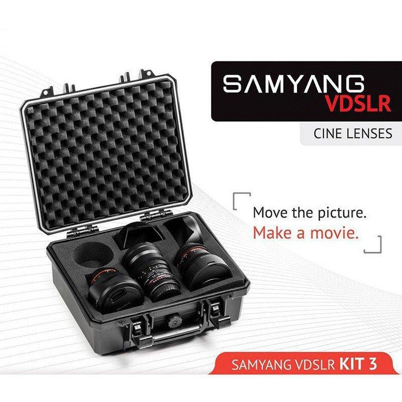 Samyang VDSLR Kit Cinéma 3 (8 mm, 16 mm, 35 mm) pour Sony