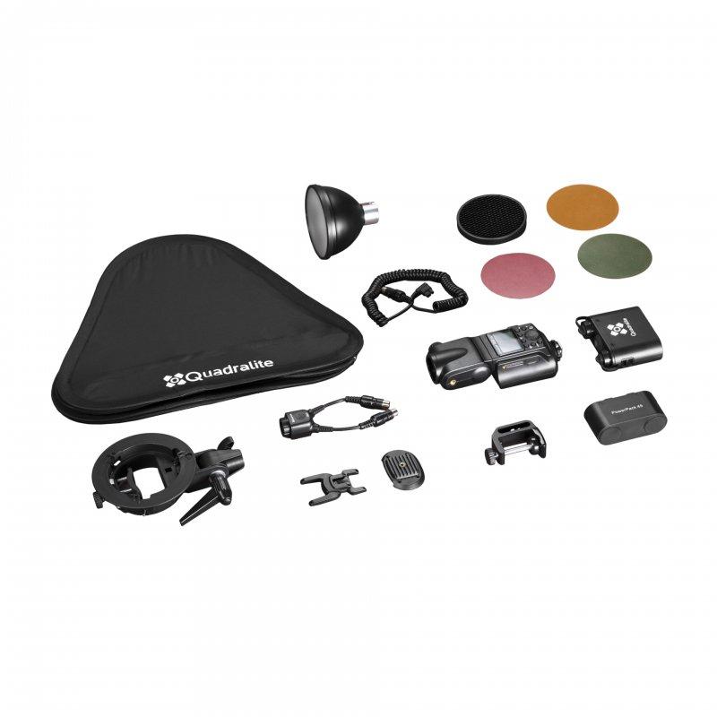 Quadralite Reporter 360 Kit flash torche i-TTL HSS pour Nikon / AD360II