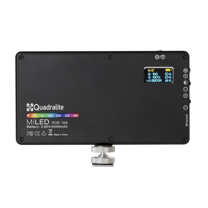 Quadralite MiLED RGB 198 Panneau LED compact avec rendu élévé