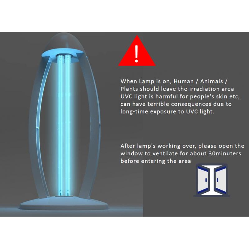 Lampe de stérilisation 38W Delta UV-C