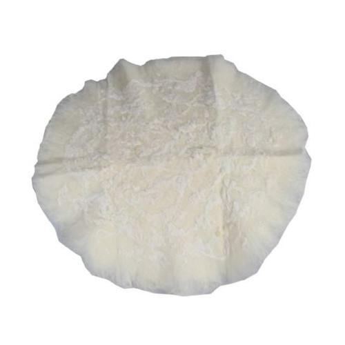 Newborn Round Undergarment Merino Wool Floral White 60 cm
