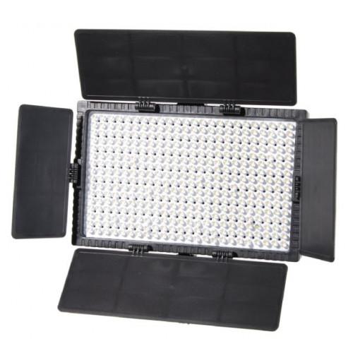Falcon Eyes Bi-Color LED Lamp Set Dimmable DV-384CT-K2 incl. Battery