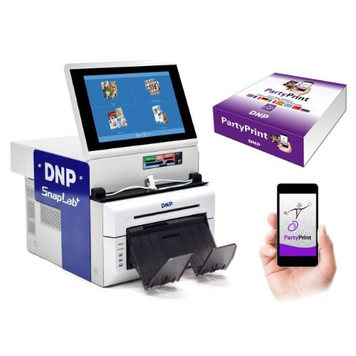 DNP Digital Snaplab Kiosque Photo DP-SL620 avec imprimante et Party Print