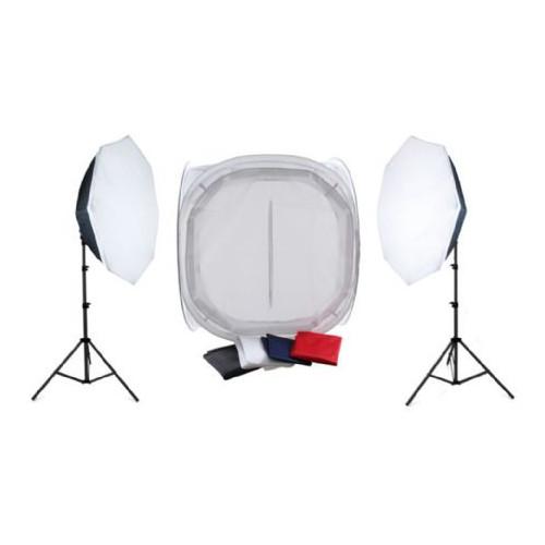 Falcon Eyes Kit packshot avec tente de diffusion 120x120x120 et lampe de studio 2200W