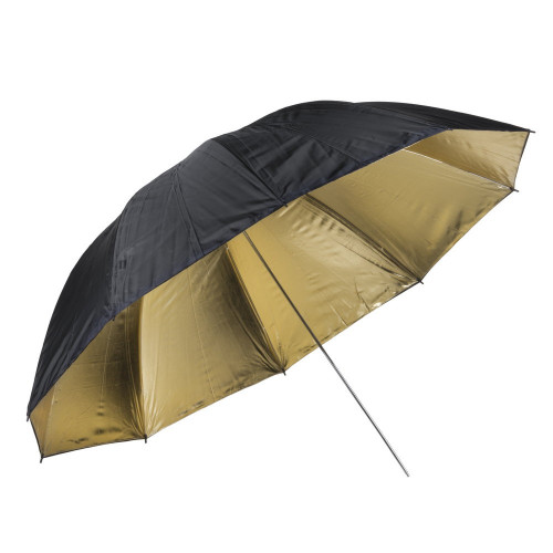 Quadralite Parapluie réflecteur photo doré 150 cm