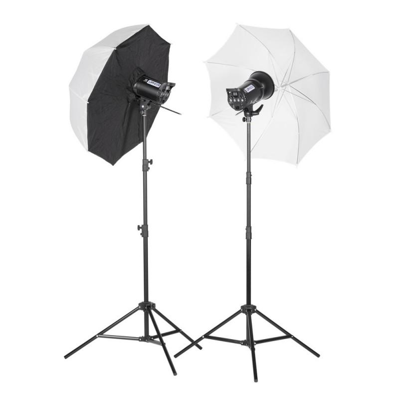 Quadralite Up! 600 kit 2x 300ws flash de studio