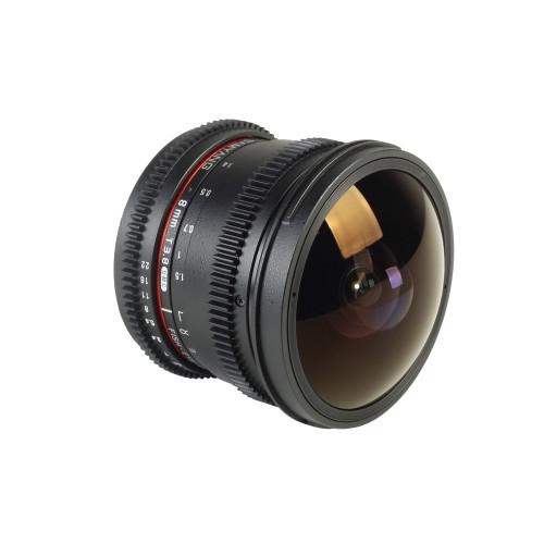 Samyang objectif fisheye 8 mm T3.8 UMC CS II VDSLR pour Sony E