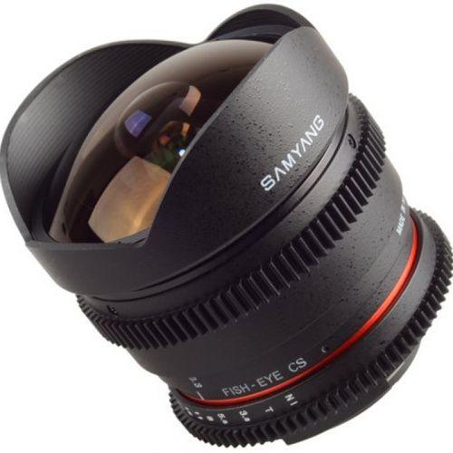Samyang objectif fisheye 8 mm T3.8 UMC CS II VDSLR pour Nikon