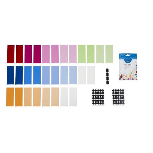 Quadralite Parrot kit de 30 filtres et gélatines pour flashes cobra