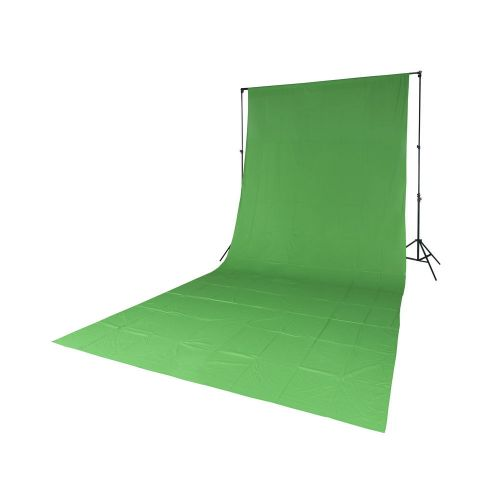 Quadralite Fond de studio tissu mousseline vert 2,85x6m