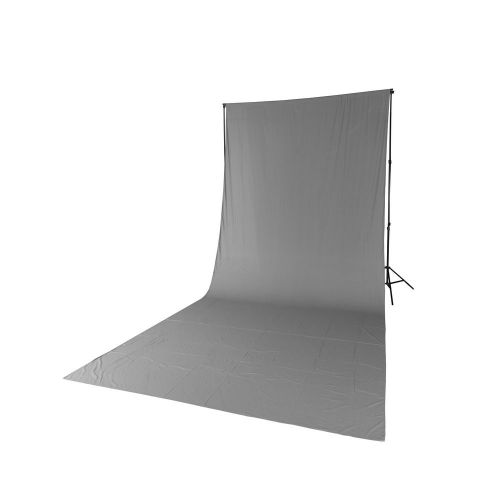 Quadralite Fond de studio tissu mousseline gris 2,85x6m