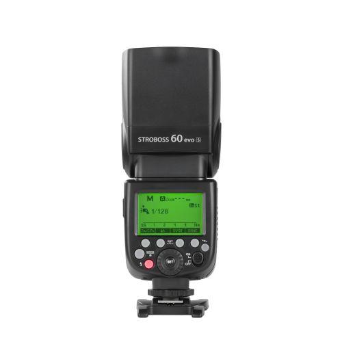 Quadralite Stroboss 60evo Flash cobra TTL sur batterie pour Sony Multi-Interface V860IIS