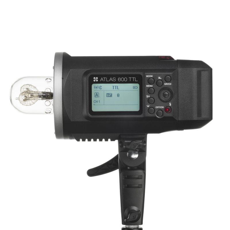 Kit : Flash de studio Quadralite Atlas 600 TTL + tête de flash + bol 18 cm