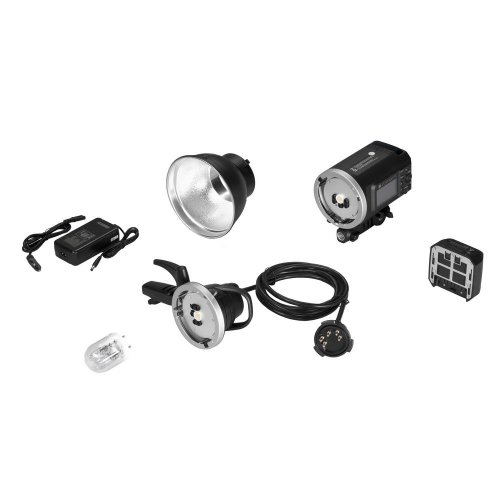 Kit : Flash de studio Quadralite Atlas 600 TTL + tête de flash + bol 18 cm
