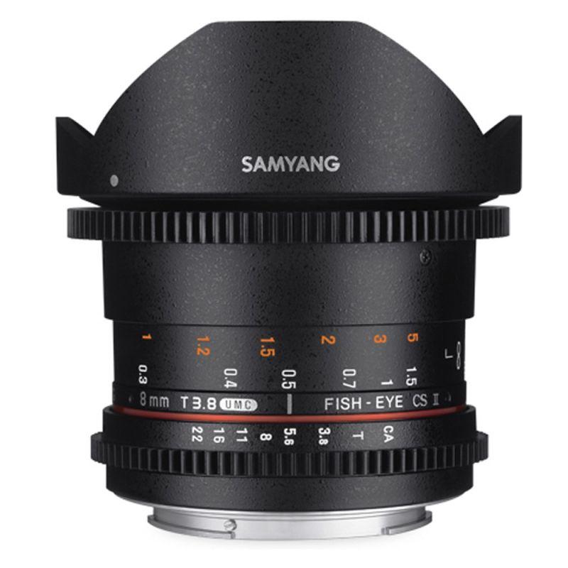 Samyang objectif fisheye 8 mm T3.8 UMC CS VDSLR CSII pour Nikon